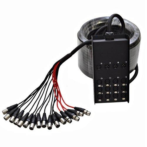 Seismic Audio Sacb 12x4x100 12 Channel Xlr Low Profile Circuit Board Snake Cable 100 Feet