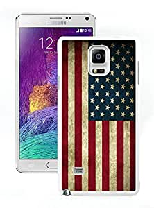Unique and Easy Use Case American Flag 6 White Case for Samsung Galaxy Note 4