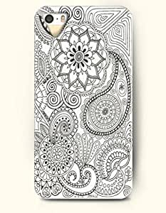 chen-shop design SevenArc Apple iPhone 4 4S Case Paisley Pattern ( Cute Royal Blue Doodle of Eyes and Paisley ) high quality