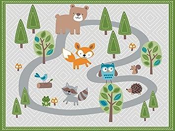 9f97d1fd6 Amazon.com : Zobo Reusable Catch-A-Mess Mat - Woodland Friends : Baby