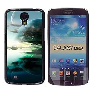 Puestas de sol Punto de fusión - Metal de aluminio y de plástico duro Caja del teléfono - Negro - Samsung Galaxy Mega 6.3