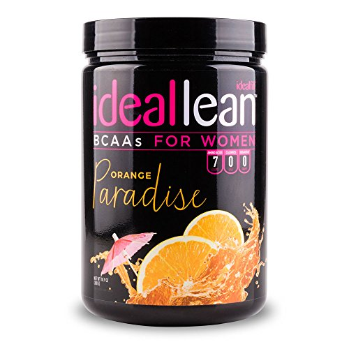 IdealLean, BCAAs For Women, Orange Paradise - Build Lean Muscle Now with Branched Chain Amino Acid. Burn Fat with IdealLean's Fat Loss Blend. 0 Carbs, Sugars, and Calories, 30 Servings