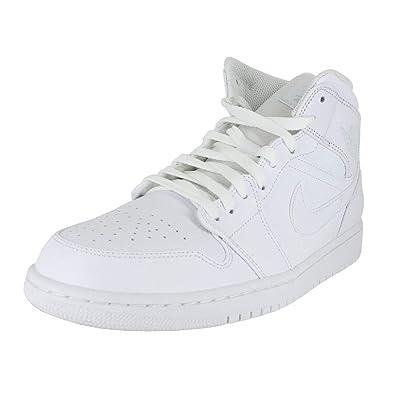 meet 246a7 a4eb9 Image Unavailable. Image not available for. Color  Jordan Mens AIR Jordan 1  MID White Pure Platinum White Size 12