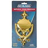 SCHLAGE BUILDERS HARDWARE SC23107605 Door Knocker, Brass