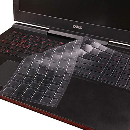 CaseBuy Keyboard Cover Skin Compatible with Dell G3/G5/G7 15.6 inch Laptop G3579 G3779 G5587 7855 7577 7588, Dell G3 17.3 inch Laptop G3779 Soft Ultra Thin TPU Protective Skin