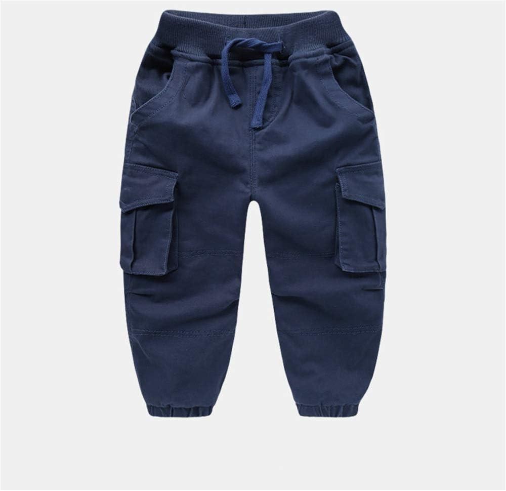 Cintura elástica Informal para niños Pantalones de chándal de algodón Pantalones de Jogger de Cintura Ajustable Pantalones (Color : Azul, tamaño : 100): Amazon.es: Hogar
