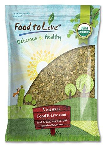 Organic Pepitas / Pumpkin Seeds, 8 Pounds - No Shell, Non-GMO, Kosher, Raw, Vegan