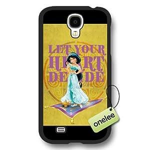 Disney Cartoon Movie Aladdin & Jasmine Frosted Phone Case & Cover for Samsung Galaxy S4 - Black wangjiang maoyi by lolosakes