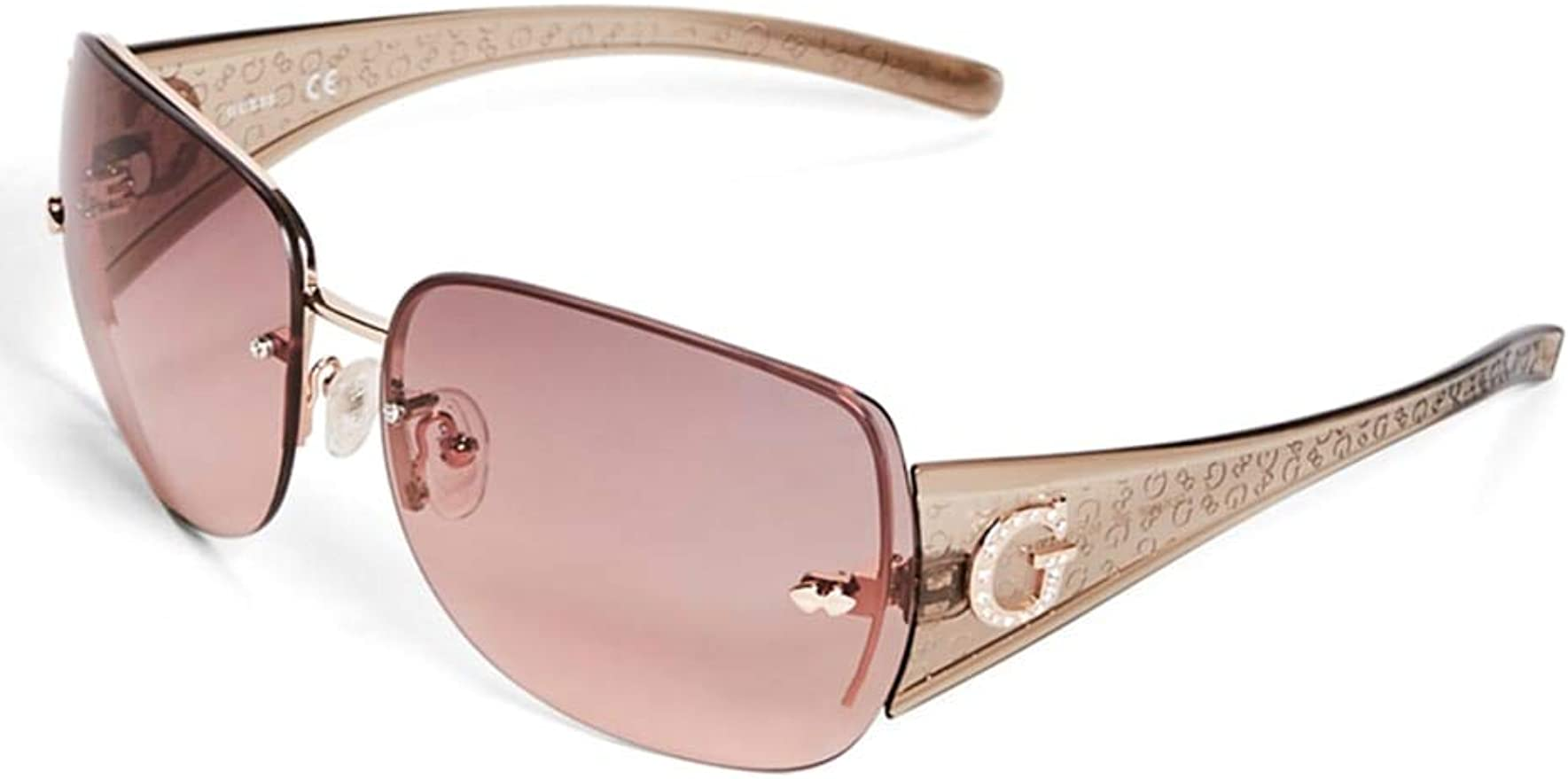 GUESS Factory Rimless Shield Sunglasses