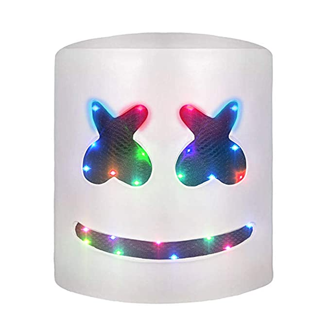 Amazon.com: DJ Marshmello Máscara LED Casco Festival de ...