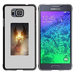 For Samsung GALAXY ALPHA G850 Case , Death Sun Wings Poster Grey God - Diseño Patrón Teléfono Caso Cubierta Case Bumper Duro Protección Case Cover Funda