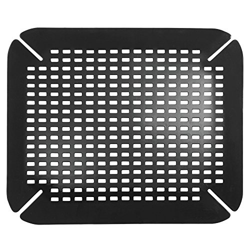 InterDesign Contour Kitchen Sink Protector Mat, Black