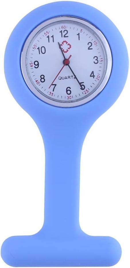Everpert Nurses Watch Fob Silicone Strap Medical Hospital Nurse Watch(Blue)