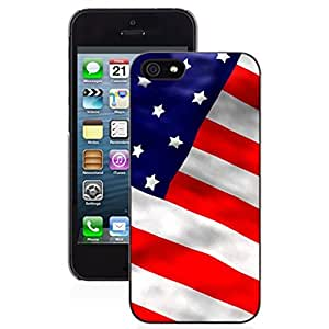 SUUER america flag Skin Personalized Custom Plastic Hard CASE for iPhone 5 5s Durable Case Cover