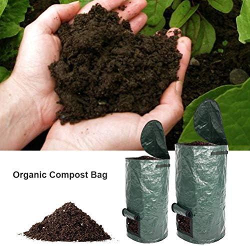 Bolsa de Compost, Bolsa de Compost de PE Bolsas de desechos de jardín Bolsa de Compost orgánica Ambiental Bolsa de desechos orgánicos con Asas Sacos de jardín Reutilizables: Amazon.es: Jardín