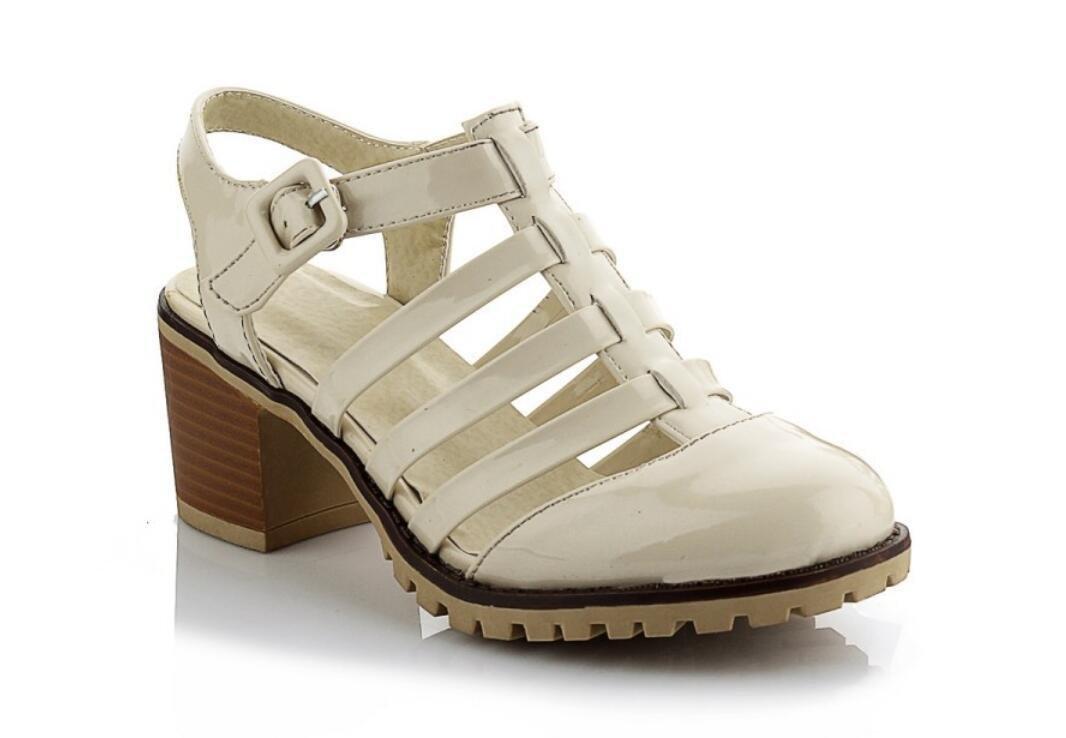 NVLXIE Damen Sandalen Sommer Anti-Rutsch Verschleiß Verschleiß Anti-Rutsch Sonnenschutz 34-43 Mädchen Schule Shopping Party Rosa Beige beige d890e1