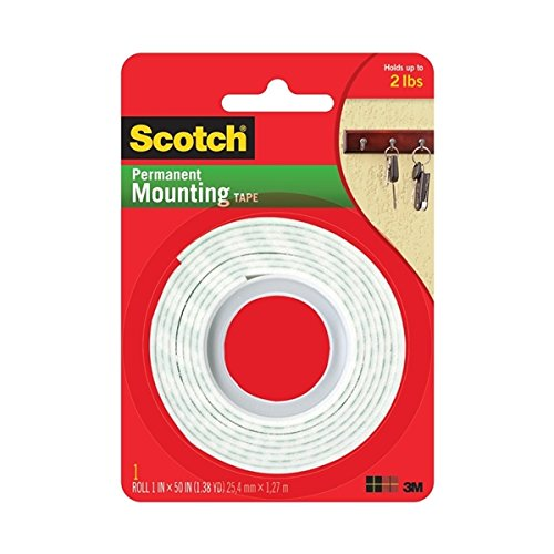 3M Scotch Heavy Duty Mounting Tape, 1-Inch by 50-Inch , pack of 24
