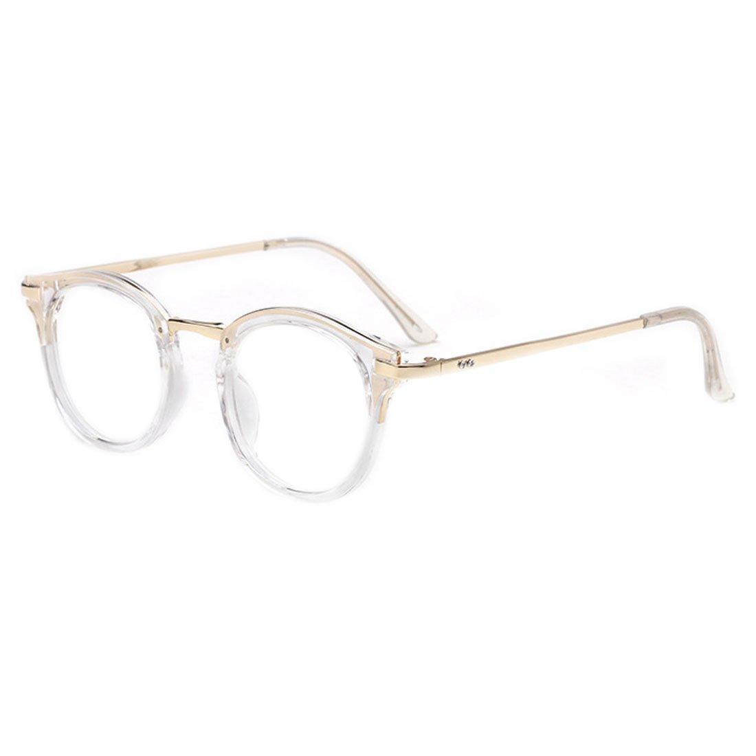 D.King Vintage Round Prescription Eyeglasses Horn Rim Clear Lens Eye Glasses Frame DK6101741-1