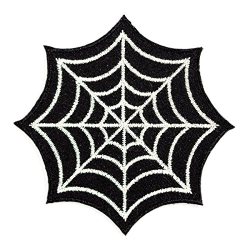 Cute Halloween Embroidery Designs (These Are Things Spider Web Embroidered Iron On or Sew On Patch)