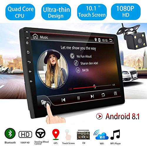 Goforjump 10 Pulgadas Android 81 Universal Car Radio Android Car Radio Player Gps Navegacion Wifi Bluetooth Mp5 Player Con Camara De Vision Trasera