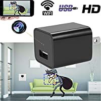 Lumii Hidden Spy Camera USB Wall Charger Adapter HD Wifi Nanny Cam Indoor Security Surveillance Cameras Video Recorder, App Control for IOS and Android
