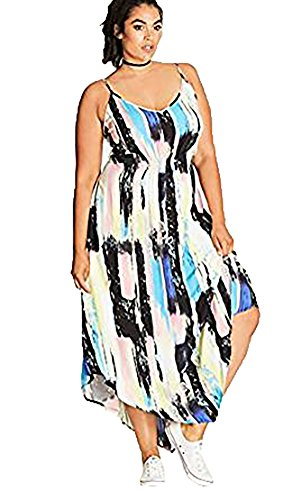 Maculage Doux Taille Plus Robe Maxi - Taille 18 / M