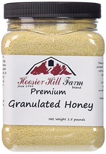 Crystallized Honey (Hoosier Hill Farm Granulated Honey Crystals, 1.5 lb)