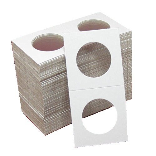 100 2x2 Cardboard Coin Holders HALF DOLLARS