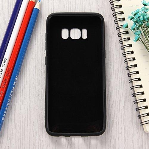 MXNET Samsung Galaxy S8 Caja, Lovely Candy colores suave TPU caso protector ,Funda Para Samsung Galaxy S8 ( Color : Black ) Black