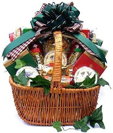 Amazon.com : A Finer Cut Gourmet Cheese and Sausage Gift Basket ...
