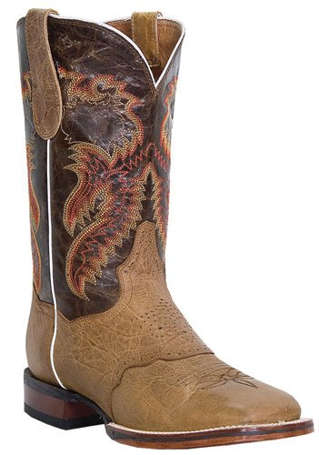 Dan Post Mens Ha Certificato Gli Stivali Da Cowboy Stockman Antichi Tan