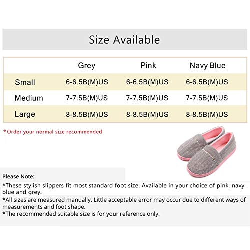 37a98bc209d9 ChicNChic Women Comfortable Cotton Knit Anti-Slip House Slipper Washable  Slip-On Home Shoes