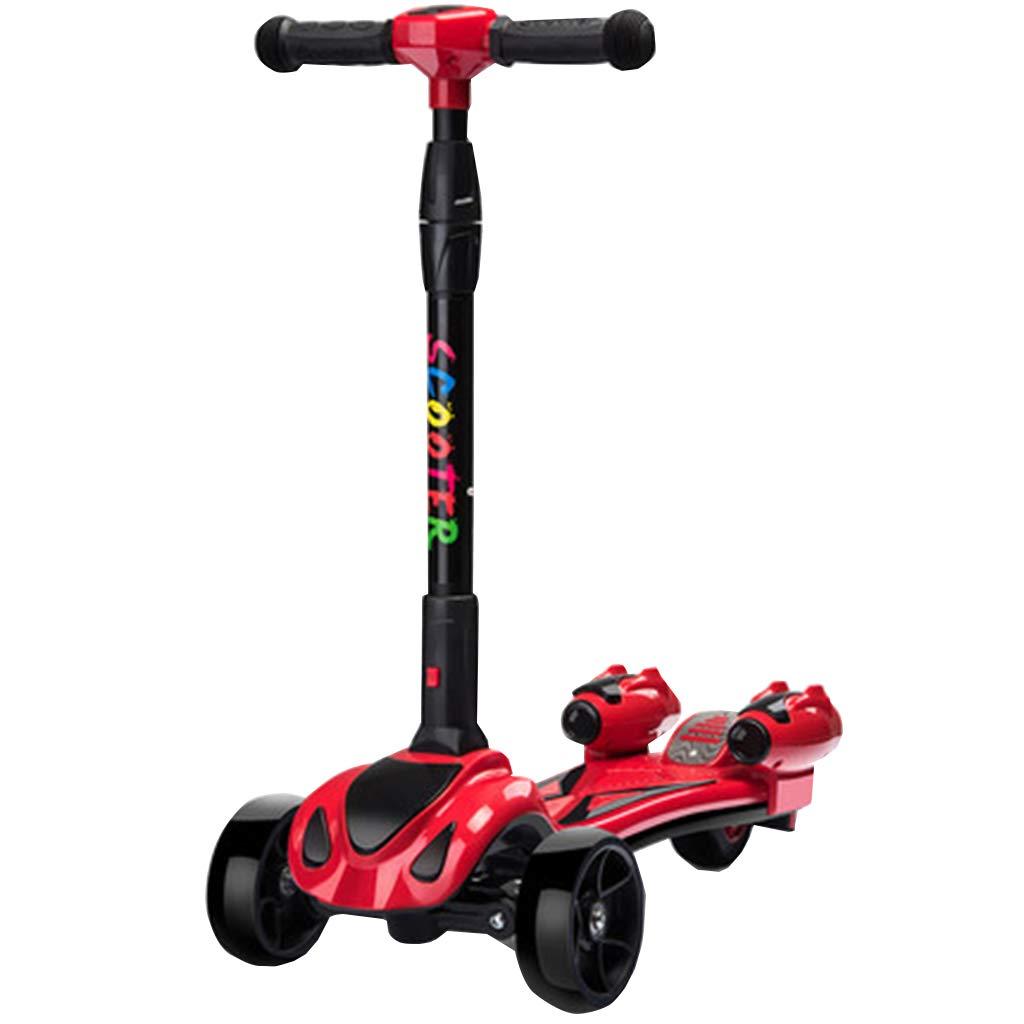 1秒折りたたみ4つの調節可能な高さが車輪を照らしますマジックスプレー動的音楽重力ステアリングゴム滑り止めハンドル子供に最適2-12歳 B07QZVMY7H  A