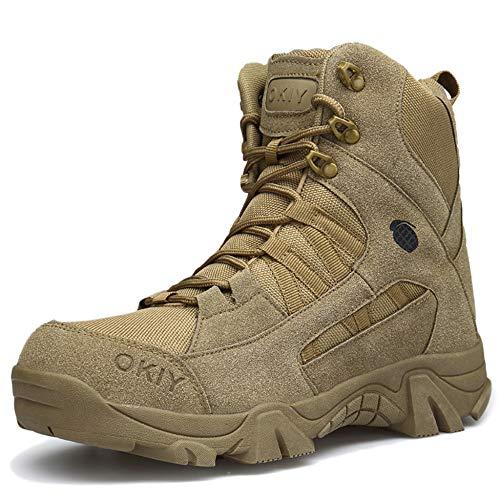Trekking Stivali Combattimento Lace ASJUNQ Land Boots Outdoor Battle Beige ups Desert Maschile Tactical Leggero Shoes Army Uomo Mountaineering da per Boots per U8vUF