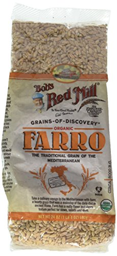 Bobs Red Mill Grain Organic Farro, 24 Ounce (Pack of 2)