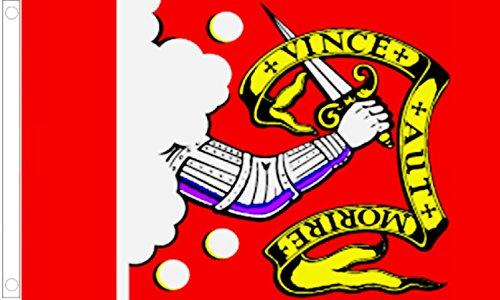Bedford Flag (Bedford Minutemen Lexington and Concord Battles USA's Original 5'x3' (150cm x 90cm) Flag)