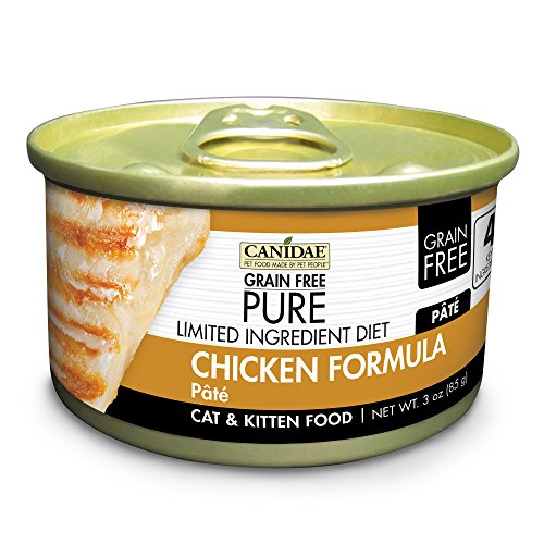 Canidae Grain Free Pure Limited Ingredient Diet Cat Wet Food Pâté With Chicken, 3 Oz - Grain Canidae