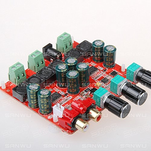 Diybigworld TPA3118 2.1 power amplifier board digital power amplifier board 2.1 speaker amplifier board SANWU by Diybigworld