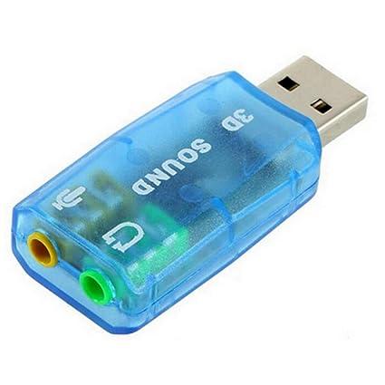 NoyoKere Tarjeta de Sonido USB de 5.1 Canales Externo 3.5mm Interfaz para Auriculares y micrófono Interfaz Computadora Micrófono estéreo Audio ...