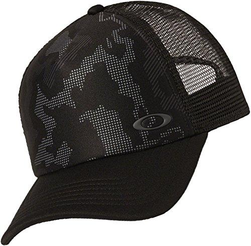 Oakley Men's Mesh Sublimated Trucker Update, Blackout, One - Hats Oakley Mens