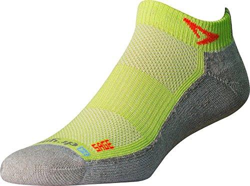 Drymax Sage Runner Trail Mini Crew Socks, Lime/Gray, Large (W10-12, (Trail Runner Mini)