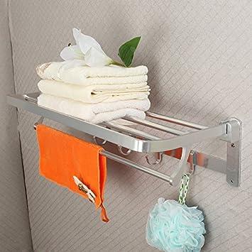 El hotel estantería de baño, WC, toallero actividades de plegado, Toalla de baño, estantes de baño, el hotel toallero: Amazon.es: Hogar