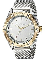 Sean John Mens  Quartz Metal and Stainless Steel Dress Watch, Color:Silver-Toned (Model: SJC0174002)