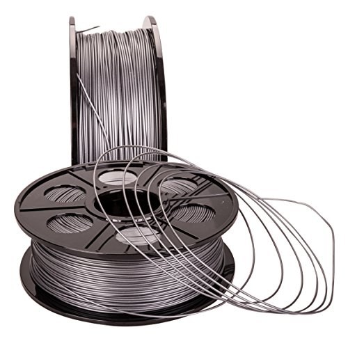 NOVESTE 3D Printer Filament ABS 1.75mm, +/- 0.02 mm, 2.2lbs 1KG Silver-Grey with Spool