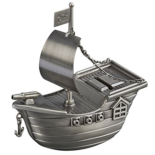 Toysmith Metal Pirate Ship Bank
