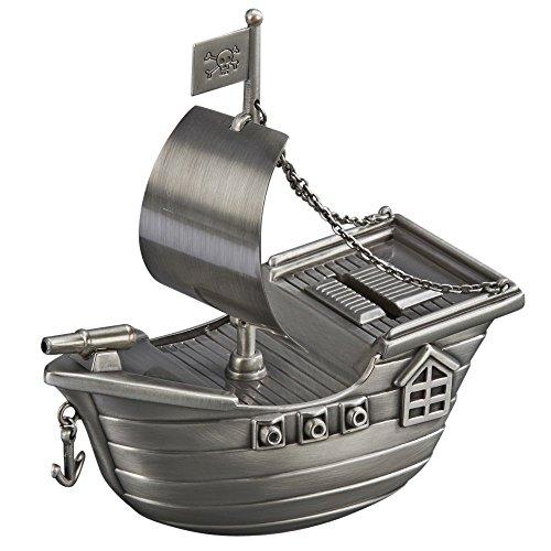 Toysmith Metal Pirate Ship - Pirate Bank Piggy