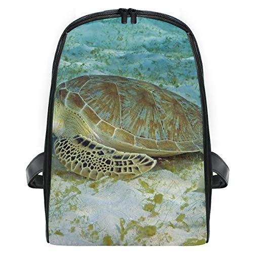 Sea Turtles Eating Plastic School Backpack For Girls Kids Elementary School Bag Mini Backpacks ()