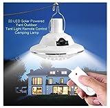 Solar Circular Hooking Remote Control Lamp,Rambling New 22LED Outdoor/Indoor Solar Lamp Camp Garden Lighting Wireless Powered Light