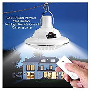 51PHPXcGeUL. SS300  - Solar Circular Hooking Remote Control Lamp,Rambling New 22LED Outdoor/Indoor Solar Lamp Camp Garden Lighting Wireless Powered Light