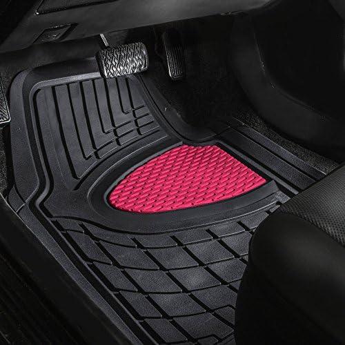 MIDELTON SA37361 Rubber /& Black Trim Tailored Car Mats